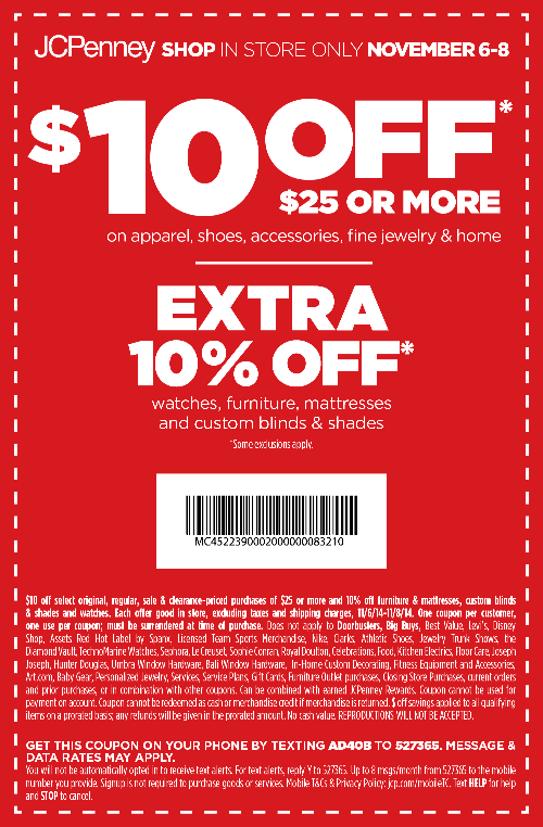 JCPenney Coupon April 2017 $10 off $25 at JCPenney