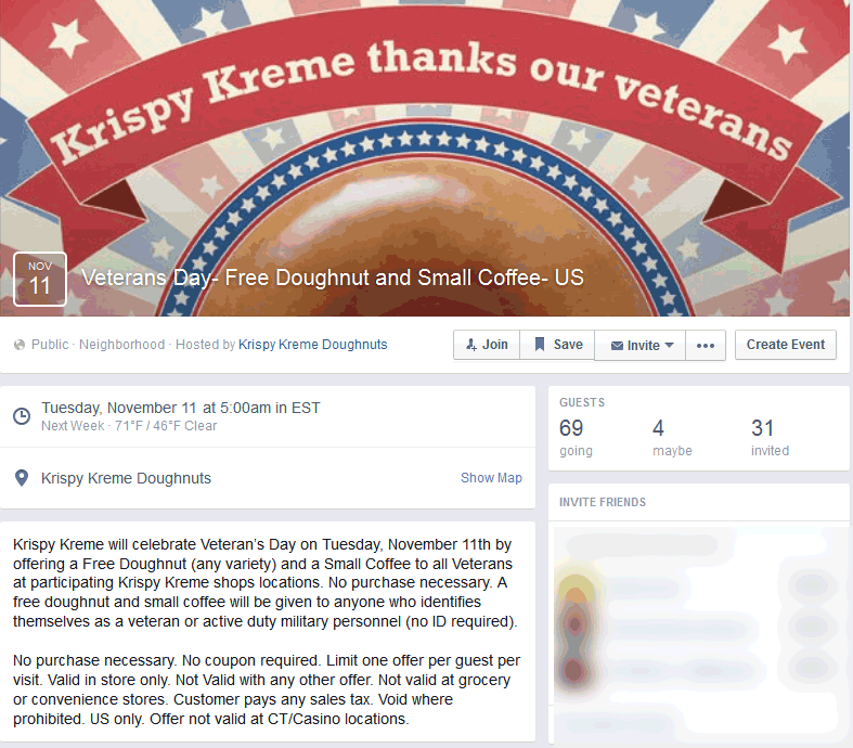 Krispy Kreme Coupon December 2016 Free donut & coffee for Veterans Tuesday at Krispy Kreme