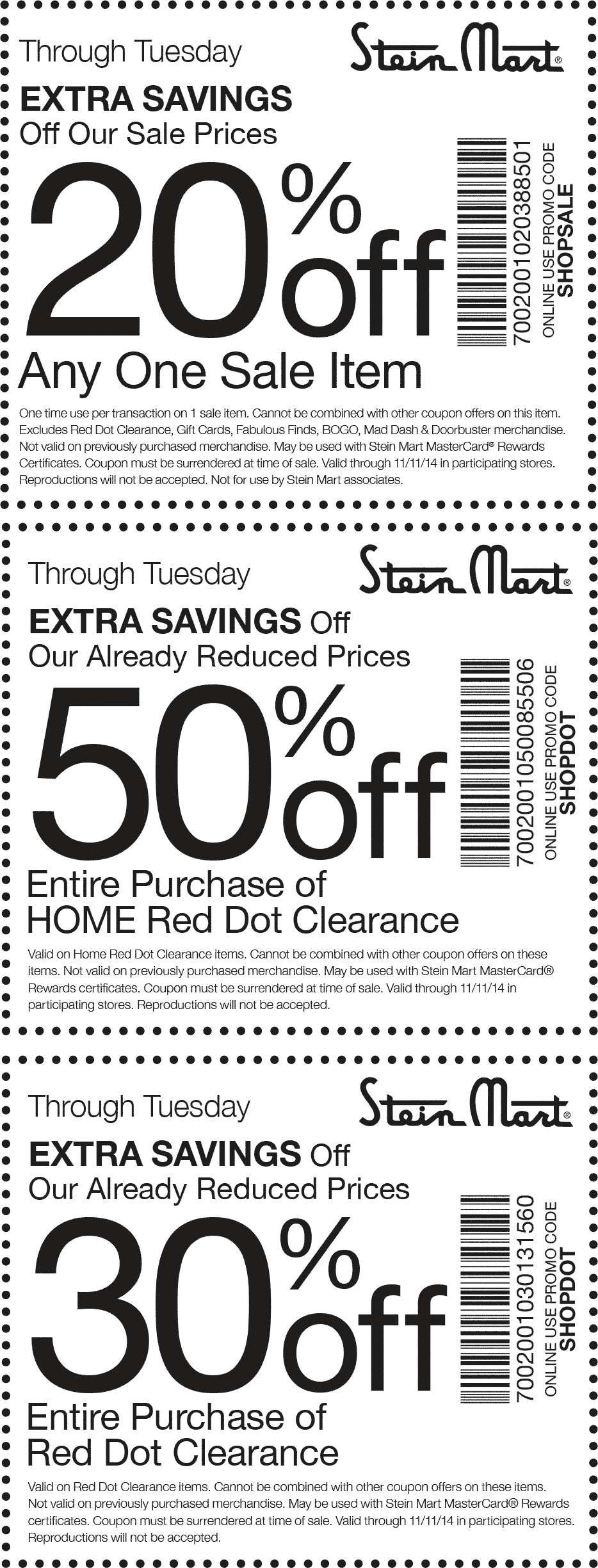 Stein Mart Coupon May 2017 Extra 20% off a single sale item & more at Stein Mart, or online via promo code SHOPSALE