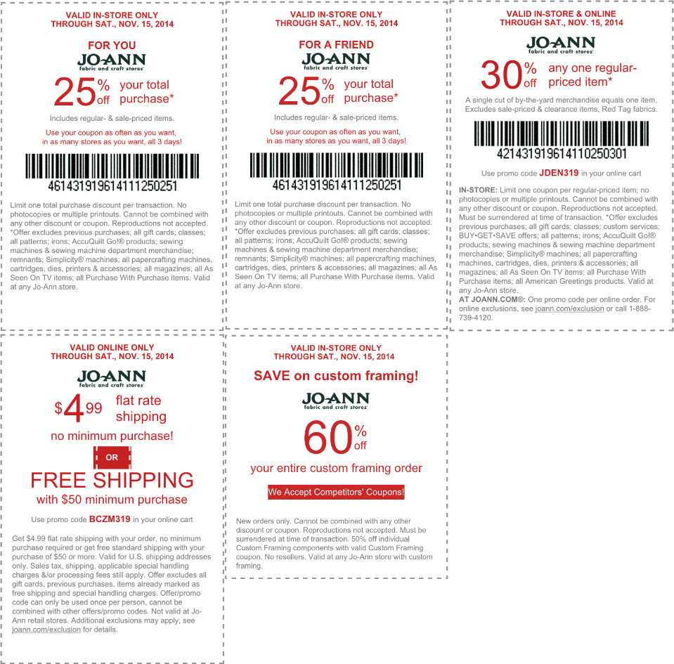 Jo-ann coupon / Aaa florist discounts