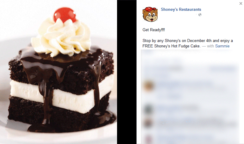 Shoneys Coupon January 2019 Hot fudge cake free the 4th at Shoneys restaurants