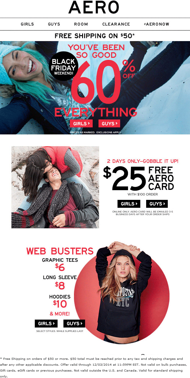 Aeropostale Coupon February 2017 Everything is 60% off at Aeropostale, ditto online