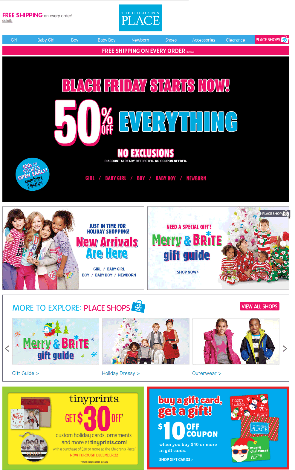 The Childrens Place Coupon March 2017 Everything is 50% off at The Childrens Place, ditto online