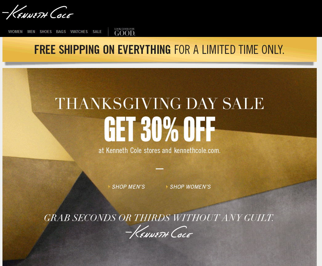 Kenneth Cole Coupon February 2019 30% off everything at Kenneth Cole, ditto online