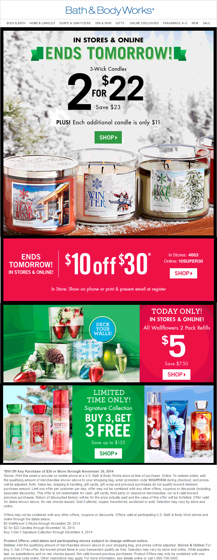 Bath & Body Works Coupon August 2017 $10 off $30 at Bath & Body Works, or online via promo code 10SUPER30