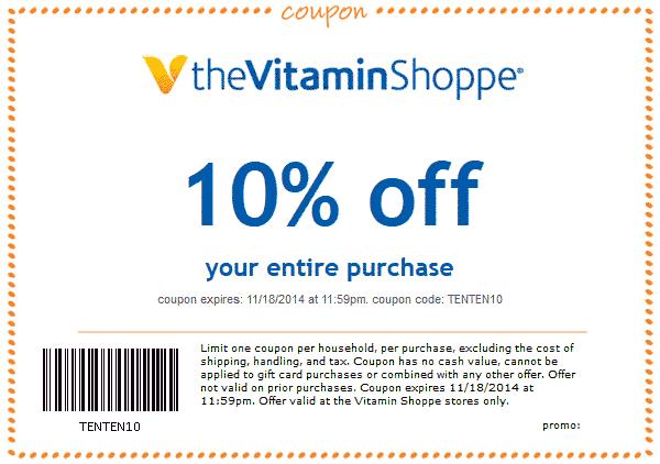 The Vitamin Shoppe November 2020 Coupons And Promo Codes